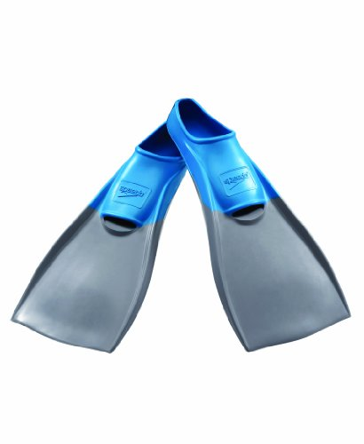 Speedo Rubber Swim Fins (Grey/Blue, - Training Fins Swim