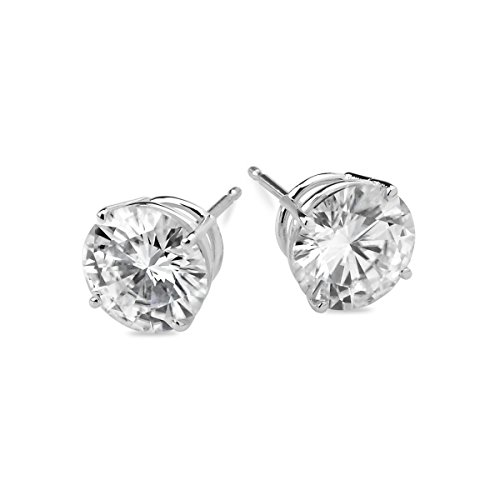 Forever Classic 6.0mm Round Cut Moissanite Stud Earrings, 1.60cttw DEW by Charles & Colvard Created Moissanite Earring Studs