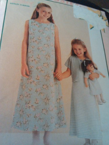 (UNCUT & OOP McCALL'S / STITCH N SAVE 2002 GIRL'S & 18