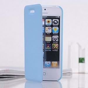 Caja del cuero del patrón de lujo de la carpeta para el iPhone 5/5S (colores surtidos) , Azul claro