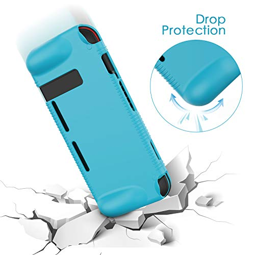 Semeving Compatible with Nintendo Switch Case,Soft Silicone Protective Cover Case Compatible with Nintendo Switch, Shock-Absorption & Anti-Scratch (Blue)