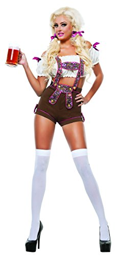 Sexy Oktoberfest Costumes (Starline Women's Miss Oktoberfest Sexy Maiden Costume Set, Brown, Large)