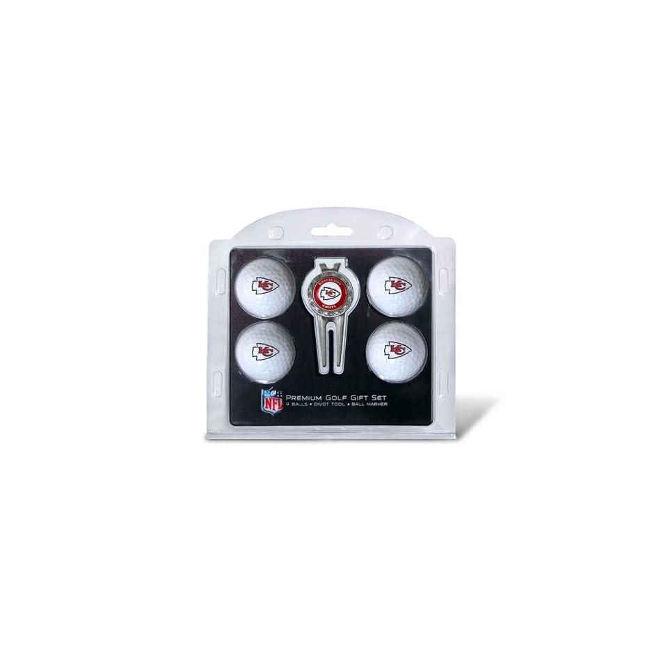 BSS   Kansas City Chiefs NFL 4 Ball/Divot Tool Set