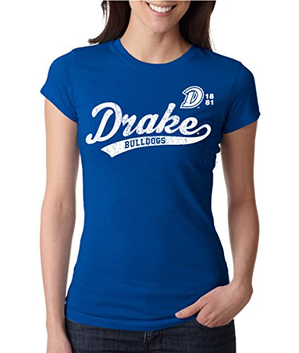 J2 Sport Drake Bulldogs NCAA Old School Sport Tail Junior T-Shirt