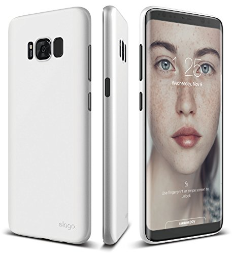 elago Galaxy S8 Case [Origin][White] - [Device Fitting Tested][Minimalistic][Scratch Protection Only][True Fit] - for Galaxy S8