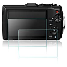 Screen Protector for Olympus TG-3 TG-4 Digital Camera, AFUNTA 2 Pack Anti-scratch Tempered Glass Film TG3 TG4 Accessory