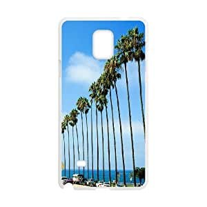 Customized Cell Phone Case for SamSung Galaxy Note4 - Palm Trees and California Dreaming case 1