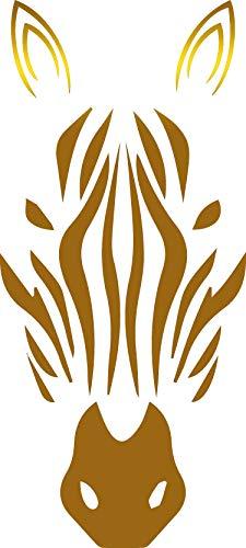 USCLIFESTYLE Animal Zebra (Metallic Gold) (Set of 2) Premium Waterproof Vinyl Decal Stickers for Laptop MacBook Phone Tablet Helmet Car Window Bumper Mug Tuber Cup Door Wall Decoration