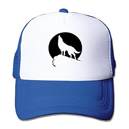 Howling Wolf Moon Unisex Mesh Hat Baseball Caps Cool Grid Hat Adjustable Trucker Cap