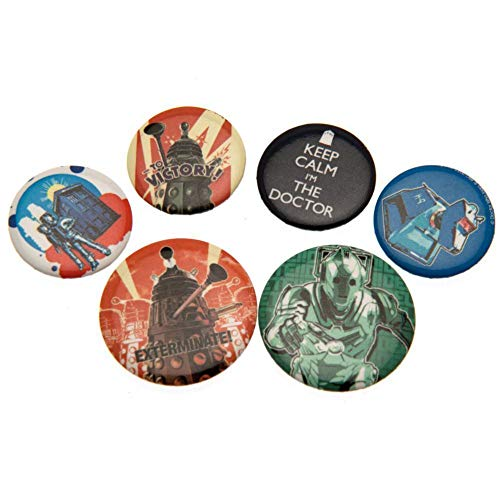 Doctor Who Retro Badge Set -