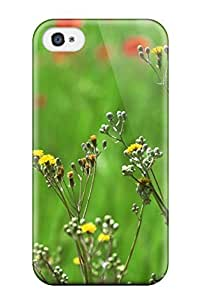 Tpu Case For Iphone 4/4s With Beautiful Field Of Spring Flowers