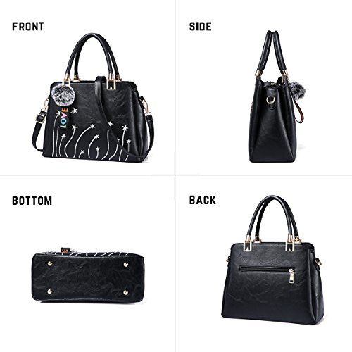 Handle Tote Fashion Top Pink Purses Leather Bags Girls Bag Shoulder Women Handbags Satchel and Crossbody FzIqwU