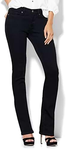New York & Co. Soho Jeans - Bootcut - Black - Petite