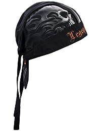 Hot Leathers Head Wrap, Negro, Una Talla se Ajusta a la mayoría