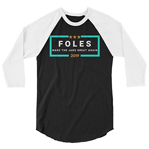 LiberTee Foles Make The Jags Great Again 3/4 Sleeve Baseball Tshirt for Men and Women, Funny 2019 Football Shirt