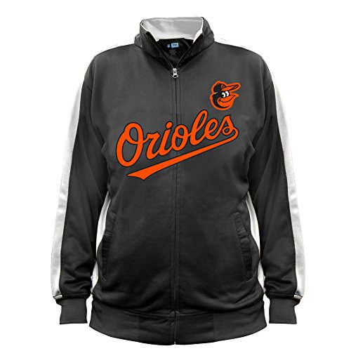 - MLB Baltimore Orioles Men's Big & Tall Track Jacket, 3X, Black/White