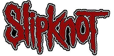 slipknot logo iron on sew on patch cv red black amazon co uk