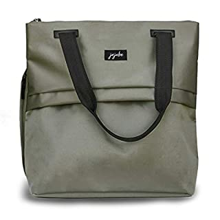 JuJuBe All Purpose Shoulder Tote Bag | Olive | Durable Waterproof Travel Bag with Exteriors & Interior Pockets, Lightweight Machine Washable Shoulder Bag, Gym Bag, Beach Bag or Diaper Bag