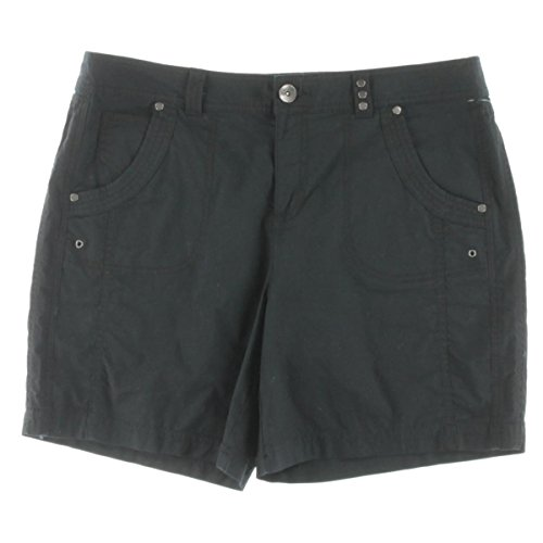 Pleated Bermuda Shorts (Style & Co. Womens Studded Pleated Bermuda Shorts Black 12)