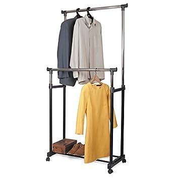 Amazon.com: Tatkraft Phoenix Ajustable Doble Garment rack ...