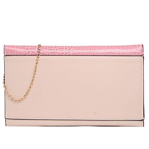 Miss Lulu - Cartera de mano para mujer Rosa L1432-Pink L1432-Pink