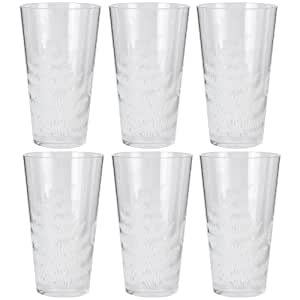 Zak Designs Fronds 24-Ounce Hiball Glasses, Set of 6