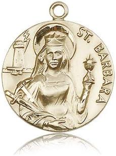 14ktゴールドセントバーバラメダル