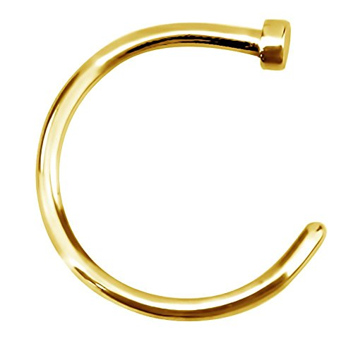 Forbidden Body Jewelry 18g 10mm Gold Tone Surgical Steel Perfect Basics Comfort Fit Nose Hoop