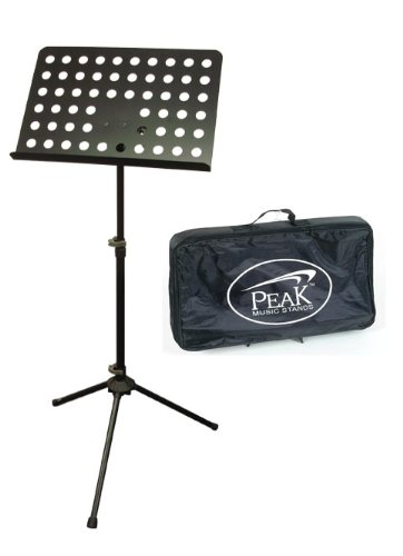 Peak Music Stands SMS-22 Orchestra Music Stand with Carry Bag (Steel Music Stand)
