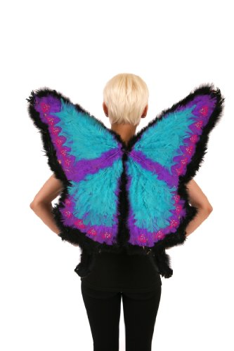 Zucker Feather Products Decorative Swallowtail Butterfly Wings, 22 by 26-Inch (Pink Butterfly Adult Wings)