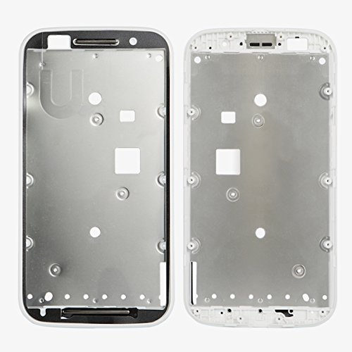 BisLinks New White Faceplate Bezel Front Housing Frame Part for Motorola Moto E XT1022