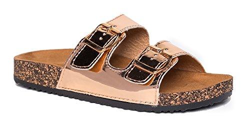 J. Adams Keri Sandals, Rose Gold, 10 B(M) US (Walking Rose Shorts)