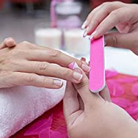 4 cepillos de manicura para uñas, cepillo de limpieza de manos con 100 unidades de limas de uñas desechables de doble cara para uñas y manicura