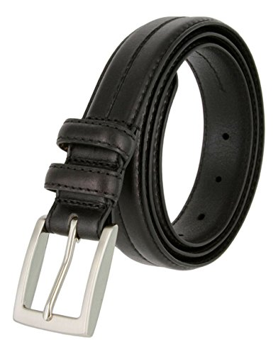 Mens Italian Genuine Leather Dress Belt 1-1/8 Wide