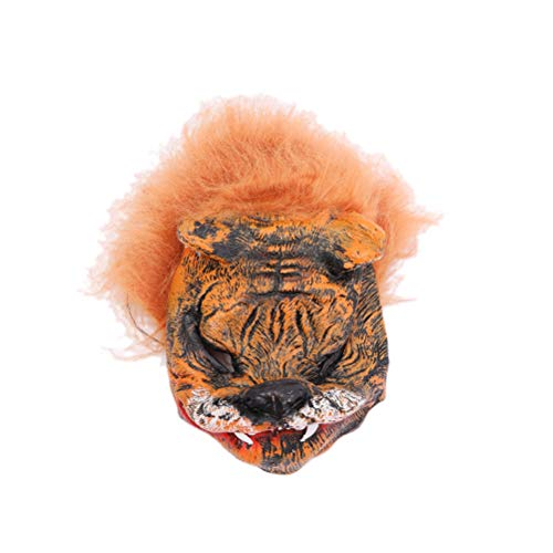 BESTOYARD Halloween Masks Scary Latex Mask Tiger Head Cosplay Mask Scary Halloween Costumes Halloween Party Supplies Favors -