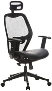 hjh OFFICE 653010 silla de oficina AIR-PORT tejido de malla / piel negro,