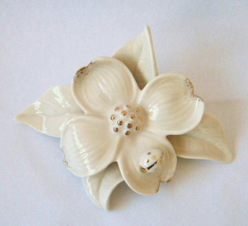 Darling Dogwood Flower Ivory fine porcelain Figurine by Lenox Ivory Porcelain Flower