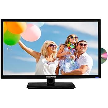 """Sceptre 24"""" 1080P LED HDTV DVD Combo E249BD-FMQC MHL Ready, Metal Black"""