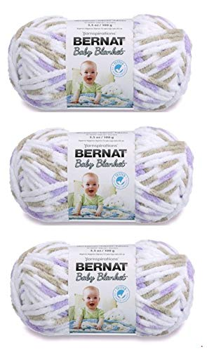 Bernat Bulk Buy Baby Blanket Yarn (3-Pack) Little Lilac Dove 161103-3113