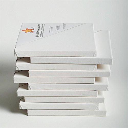 10 TOILES SUR CHASSIS ART-STAR 30x40 cm | prêtes à peindre, 100% coton, idéal p. artistes débutants