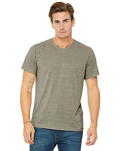 Bella + Canvas Womens 3.6 Oz. Poly-Cotton T-Shirt (3650) -Stone MARB -XL