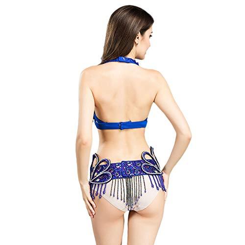 Ceinture Ensemble Exquis gorge Gland Du Danse Et De Bras Pour Costume Perles Costumes Vêtements Royal Bleu Ventre Smeela Femmes Foncé Soutien g6FTwyq8Z