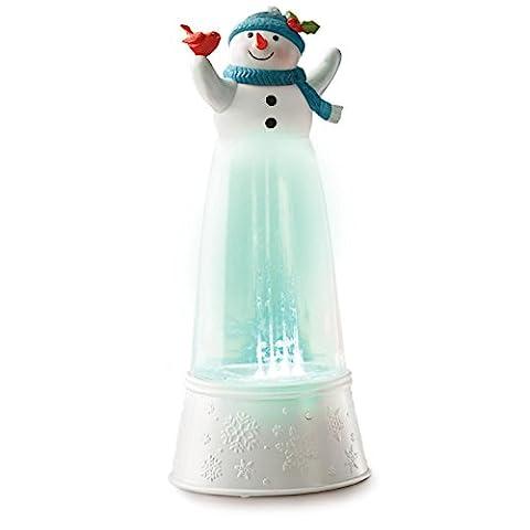 Hallmark Festive Fountain Cardinal Snowman Musical Snow Globe (Hallmark Musical Snowman)