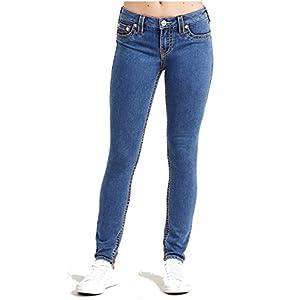 True Religion Women's Super Skinny Leg Big T Jeans in SNW CLN