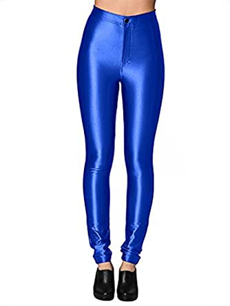 American Apparel Women's The Disco Pant Size XXS Royal Blue