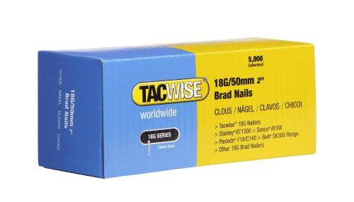 Tacwise 0401 18G/ 50mm Nails for Nail Gun (Box of 5000)