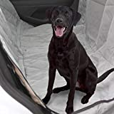 Plush Paws Ultra-Luxury Pet Seat Cover - 2 Bonus Harnesses 2 Seat Belts for Cars Trucks & SUV - Grey, Waterproof, Nonslip Silicone Backing