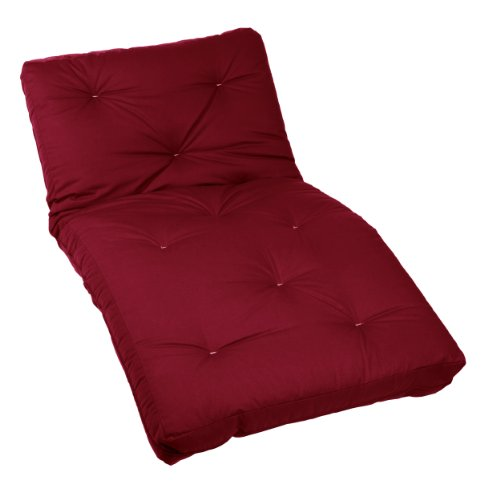 Mozaic Twin Size 10-inch Cotton Twill Futon Mattress, Red (Futon Twill Cotton)