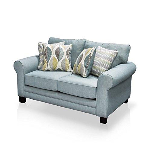 Furniture of America Gardena Love Seat, Soft Teal