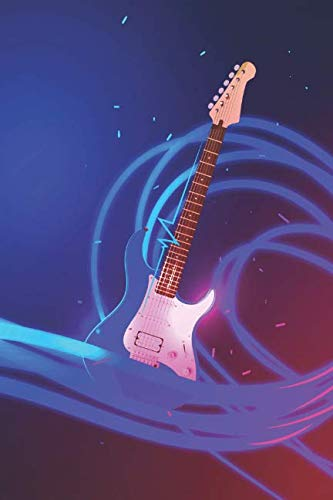 Notes: Lined Notebook | 120 Pages (6 x 9 inches) | Ruled Writing Journal With A Guitar Against A Vibrant Electric Blue And Purple Cover